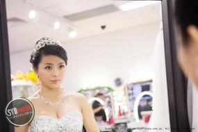 【SYDPHOTOS】拍摄婚纱照前的化妆室