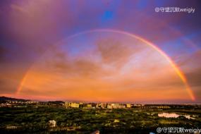 【北京】昨天的北京美Cry:彩虹&七彩祥云